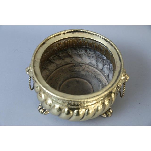 Early French Brass Jardiniere with Original Zinc Liner - Image 3 of 7
