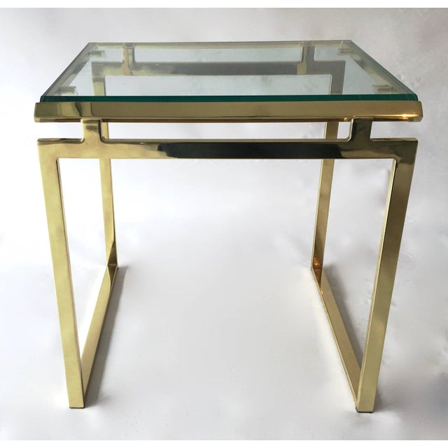 Mid-Century Brass & Glass Nesting Tables - A Pair - Image 8 of 10