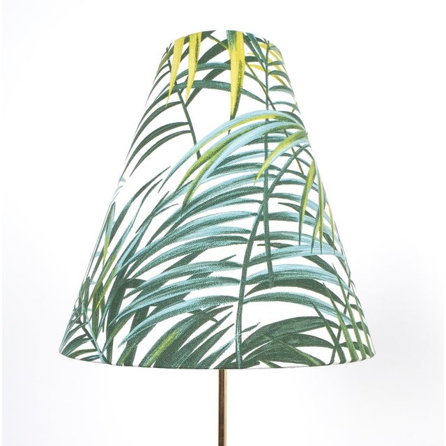 Bamboo Coconut Brass Bamboo Floor Lamp Attr. Kalmar, Austria 1950 For Sale - Image 7 of 11
