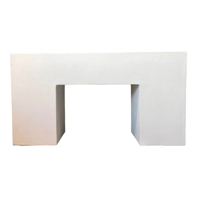 Modern Raw Plaster Block Console For Sale