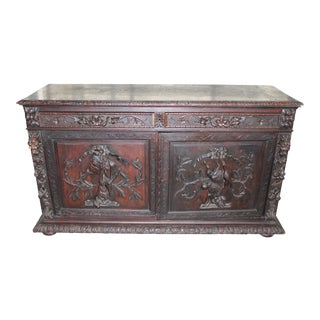 18th Century French Hand-Carved Sideboard For Sale