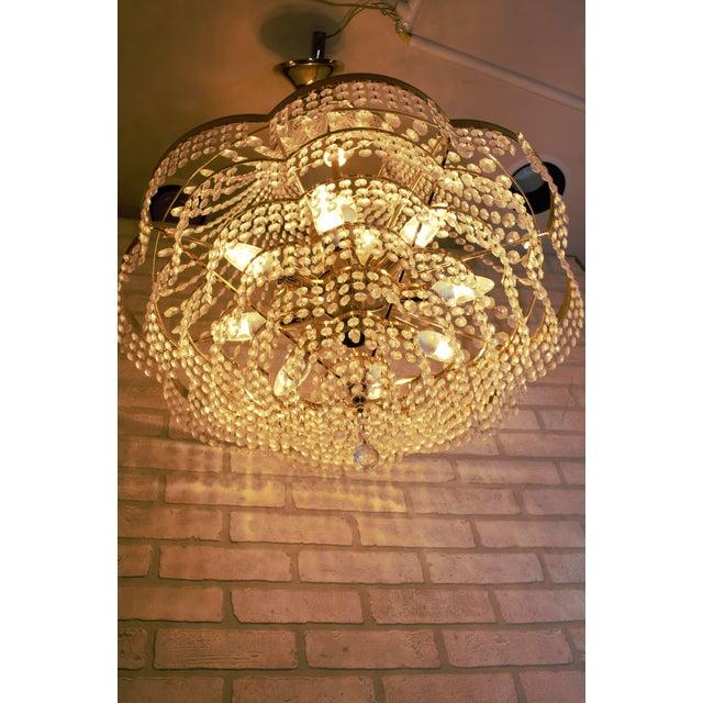 Vintage Swarovski Crystal Chandelier For Sale - Image 11 of 12