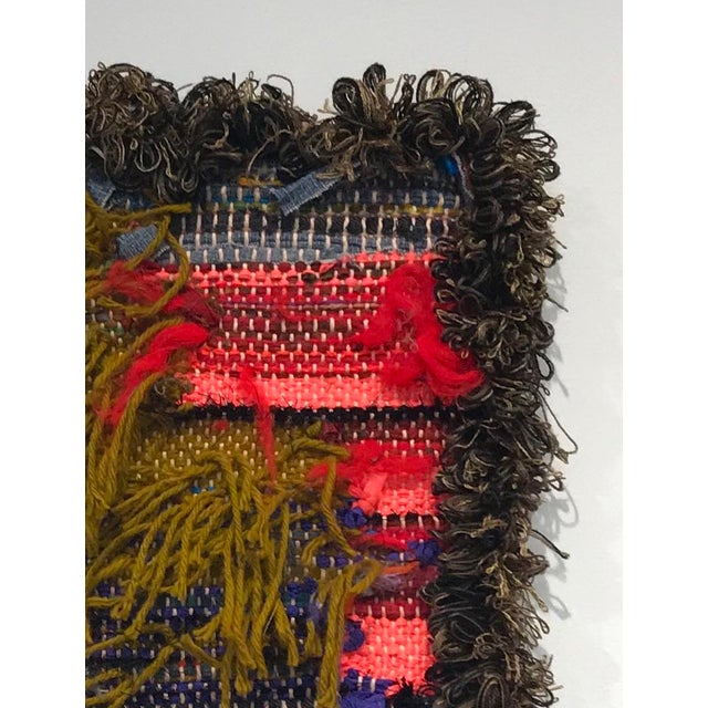 Postulate 47 Wainting Tapestry x paulaschubatis YEAR: 2018 MADE IN: Detroit, MI 'Waintings' are hand woven tapestries...