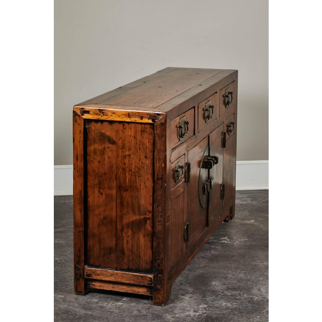 Asian 19th C. Chinese Poplar Sideboard For Sale - Image 3 of 10