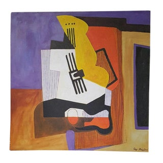 1922 Surrealism Neoclassicist Pablo Picasso by Ray Martinez Acrylic on Canvas Still Life For Sale