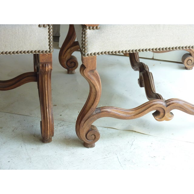 Louis XIV-Style Fauteuils - A Pair For Sale - Image 5 of 5
