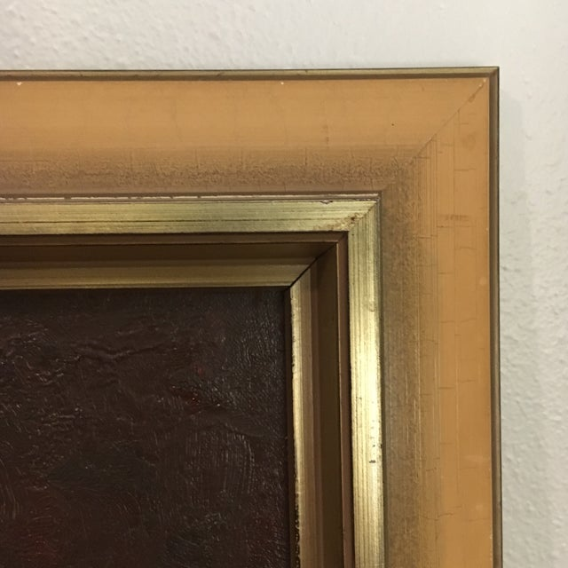 Vintage Framed Landscape Painting - Image 8 of 9