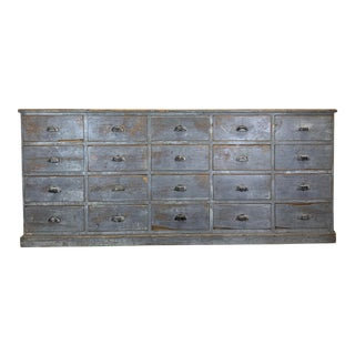 Antique Rustic Painted French Cabinet For Sale