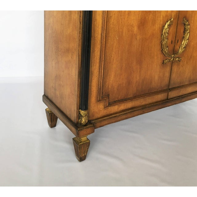 Gold Leaf Exceptional Italian Neoclassical Sideboard For Sale - Image 7 of 8