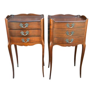 Vintage French Side Tables - A Pair For Sale