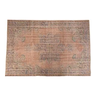"Vintage Distressed Oushak Carpet- 6'2"" x 9'5"""