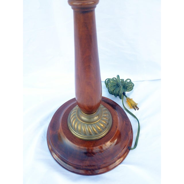 Vintage Mahogany & Brass Floor Lamp For Sale - Image 4 of 8