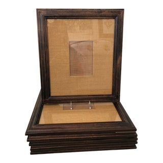 Large Pottery Barn Frames With Burlap Mats- Set of 6 For Sale