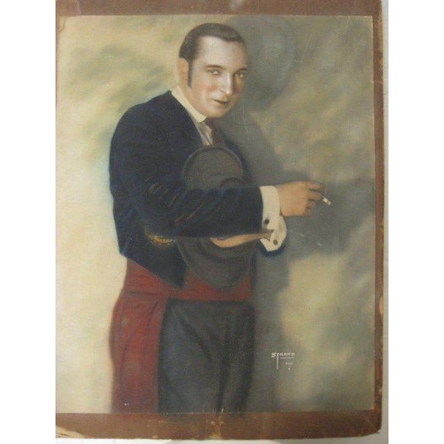 Paper 1920s Hand Colored Portrait Photo of Harry Richman, by Strand NYC For Sale - Image 7 of 7