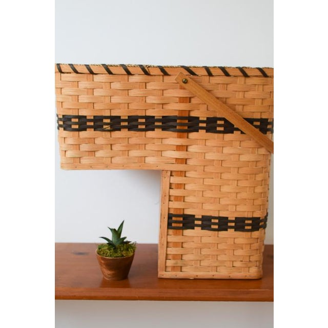 20th Century Country Amish Stair Step Basket For Sale - Image 11 of 11