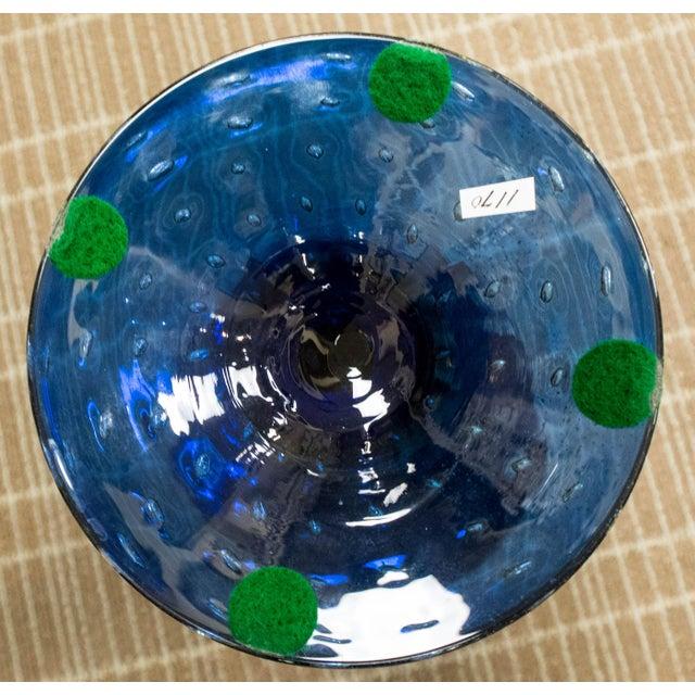 Seguso Vetri d' Arte Murano Pedestal Vase For Sale - Image 9 of 9