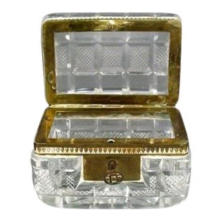 19th Century Crystal and Bronze Box For Sale