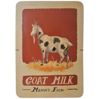"""Goats Milk"" Masons Farm Sign For Sale"