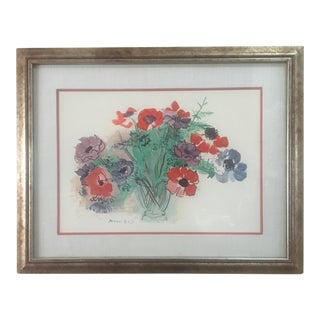 """1960s Raoul Dufy Lithograph """"Anemones"""" Bouquet of Flowers Print For Sale"""