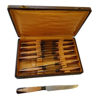 French Art Deco Unused Knife Set - Set of 12