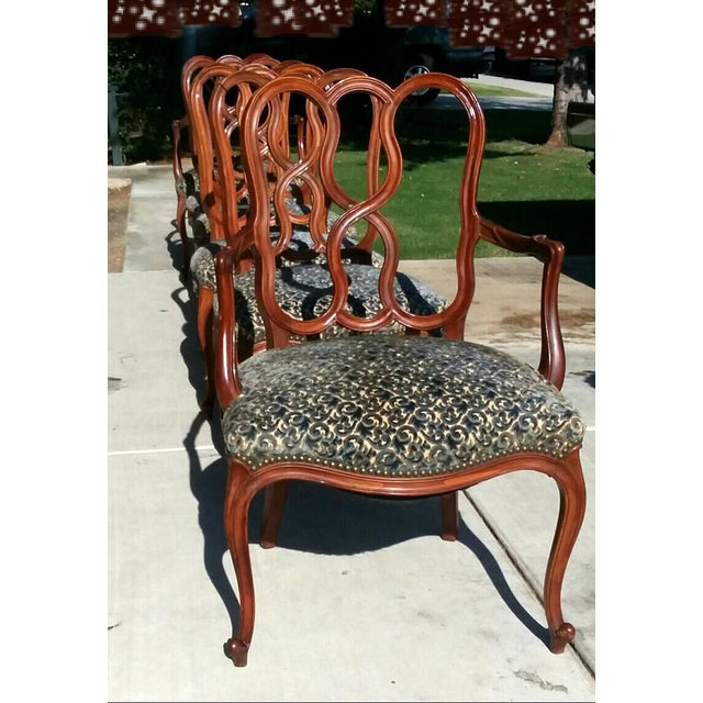 French Early 20th Century Vintage Louis XV French Ribbon Back Chairs - Set of 6 For Sale - Image 3 of 9