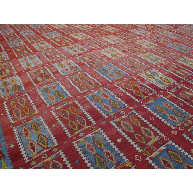 Islamic Very Large and Exceptional Antique Sivas Kilim For Sale - Image 3 of 10