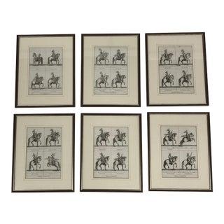 Antique English Horse Prints - Set of 6