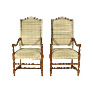 French Baroque Style Armchairs - A Pair For Sale
