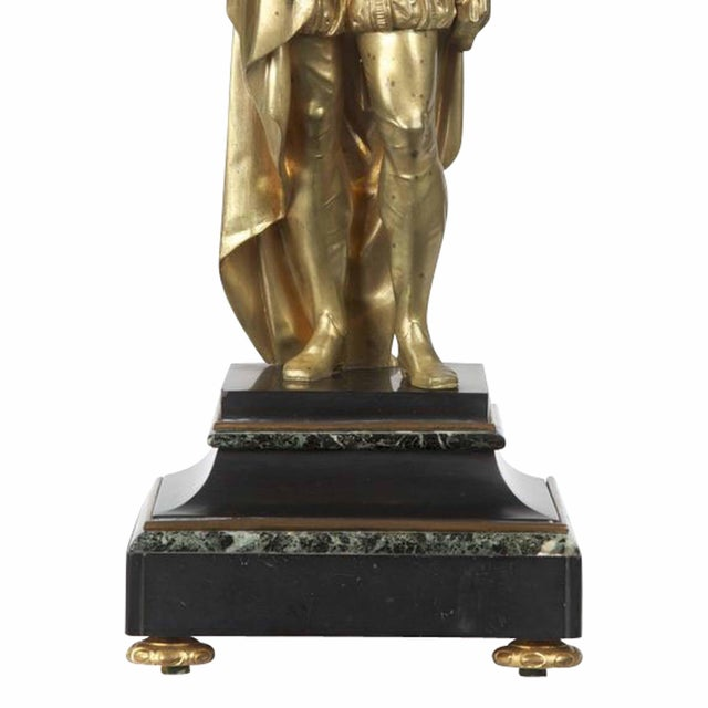 Traditional 19th Century Gilt Bronze Sculpture of Classical Figure For Sale - Image 3 of 3