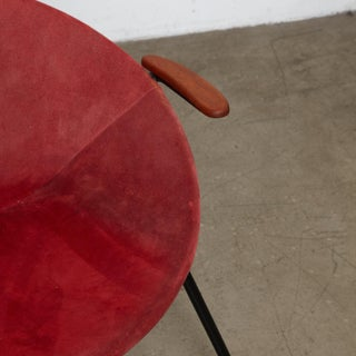 1960s Hans Olsen Mid-Century Suede Sling Hoop Teak & Leather Balloon Chair Preview