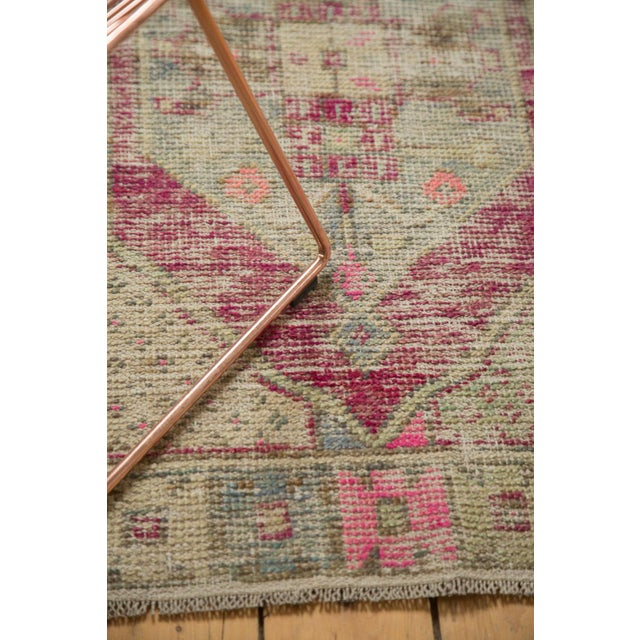 "Cotton Vintage Distressed Oushak Rug - 2'6"" X 4'4"" For Sale - Image 7 of 11"