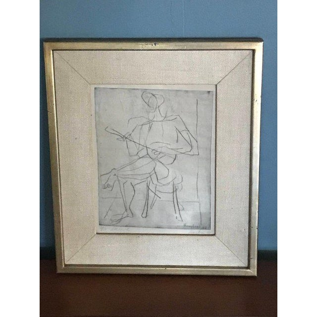 1948 Germany Abstract Figural Etchings by Eduard Bargheer For Sale In San Francisco - Image 6 of 9