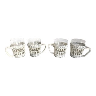 Cottage Wicker Cradled Glasses - Set of 4