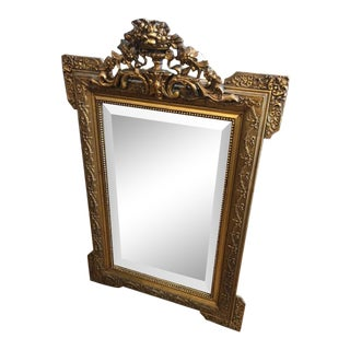 Antique French Style Gilt Mirror For Sale