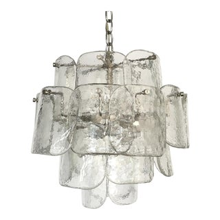 Mazzega Four Tier Murano Glass Chandelier