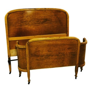 Early 20th Century Vintage Full Size Bed For Sale