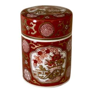 Gold Imari Biscuit Barrel For Sale