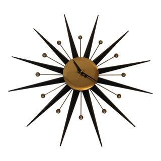 Late 20th Century Vintage Starburst Clock