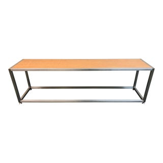 Custom Eucalyptus + Stainless Steel Bench