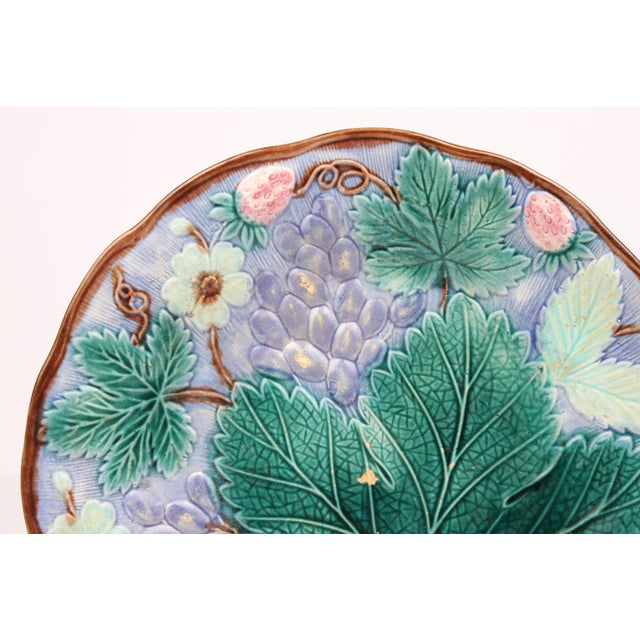 19th Century Majolica Dessert Plates - Set of 6 - Image 3 of 4