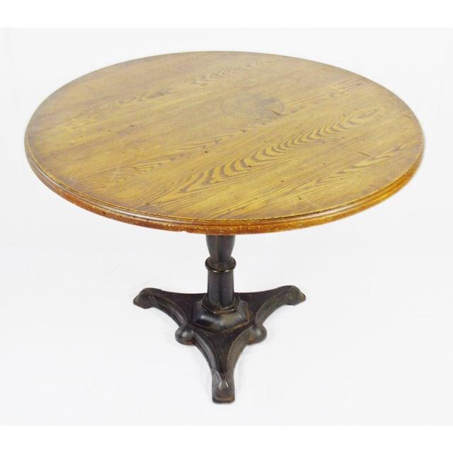 Rene Brancusi Chestnut & Iron Table - Image 2 of 10