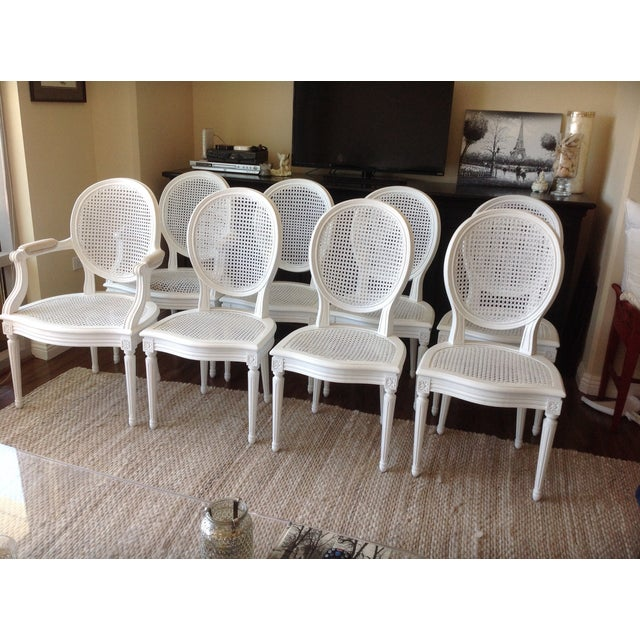 Louis XVI Dining Chairs - Set of 8 - Image 3 of 7
