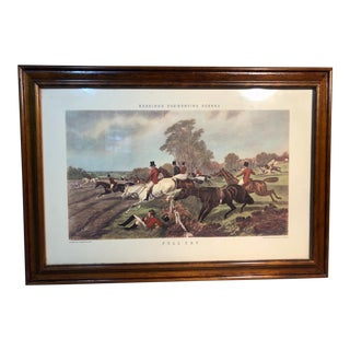 "Herrings Fox Hunting Scenes Lithograph, ""Full Cry"" For Sale"
