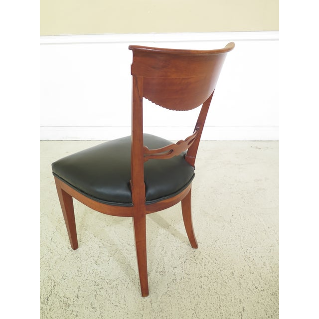 Cherry Wood 1940s Vintage Biedermeier Style Cherry Side Chair For Sale - Image 7 of 10