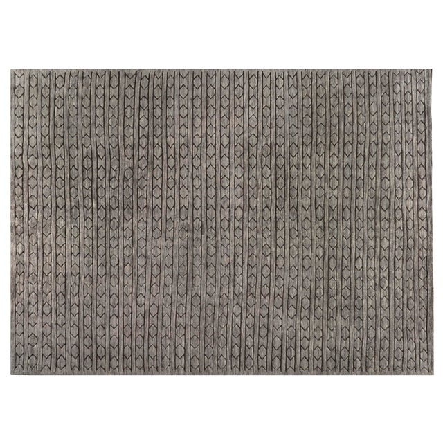"""Not Yet Made - Made To Order Stark Studio Rugs Cato Rug in Grey/Brown, 9'0"""" x 12'0"""" For Sale - Image 5 of 5"""