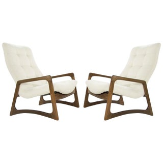 Sculptural Walnut Lounge Chairs by Adrian Pearsall for Craft Associates For Sale