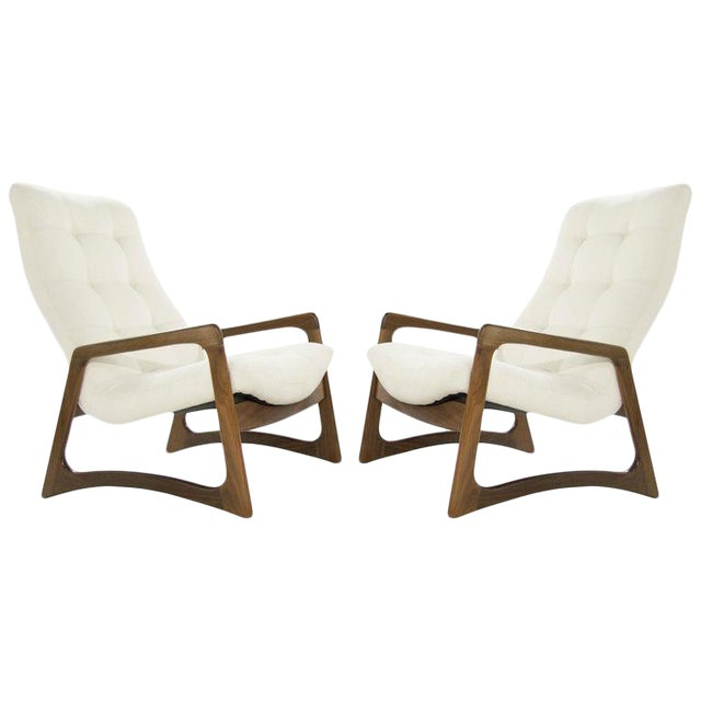 Sculptural Walnut Lounge Chairs by Adrian Pearsall for Craft Associates - a Pair For Sale