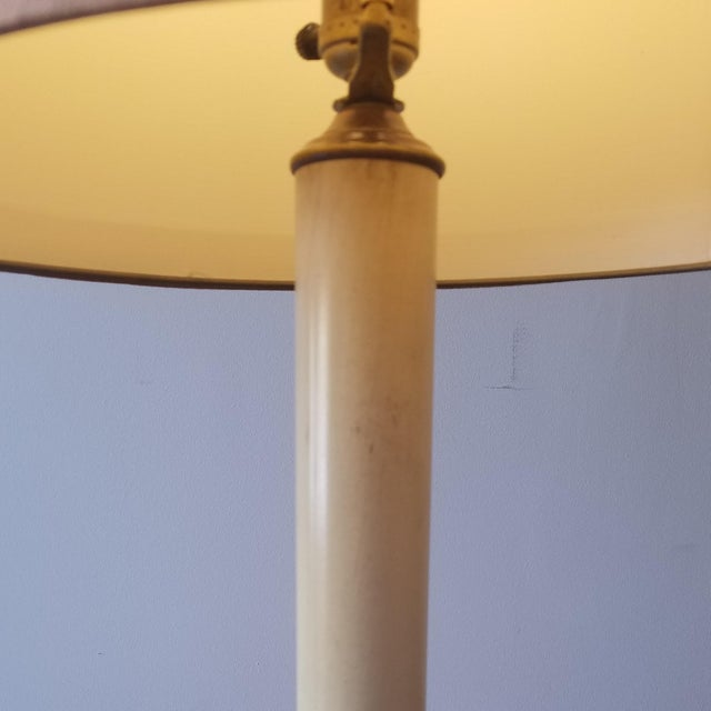 Frederick Cooper Mid 20th Century Bronze Table Lamps With Original Shades - a Pair For Sale - Image 9 of 12