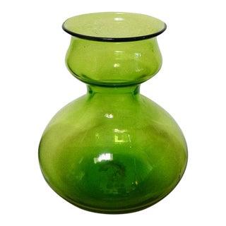 Mid-Century Modern Bischoff Olive Green Vase
