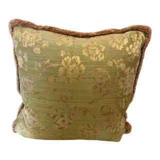 Schumacher Floral Damask Pillow For Sale